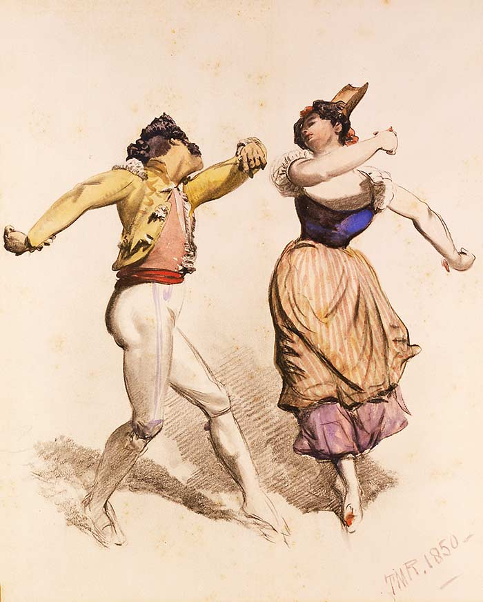 "Once bitten, not shy: the tarantella gave thousands of costumed European folk an excuse to go footloose and defy social convention. (From ""Stomp: A History of Disco and Invertebrates"")"