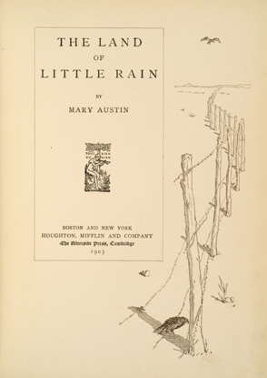 The_Land_of_Little_Rain_title_page