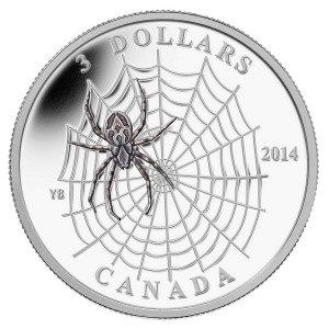 Who says spiders aren't made of money? In Canada they are, eh.